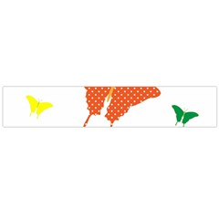 Beautiful Colorful Polka Dot Butterflies Clipart Flano Scarf (Large)