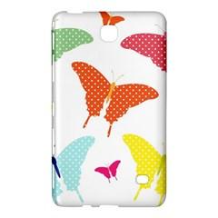 Beautiful Colorful Polka Dot Butterflies Clipart Samsung Galaxy Tab 4 (8 ) Hardshell Case
