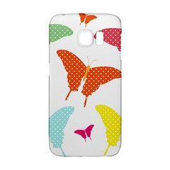 Beautiful Colorful Polka Dot Butterflies Clipart Galaxy S6 Edge