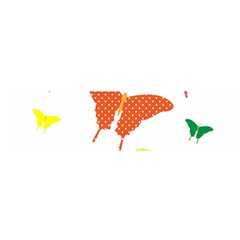 Beautiful Colorful Polka Dot Butterflies Clipart Satin Scarf (Oblong)