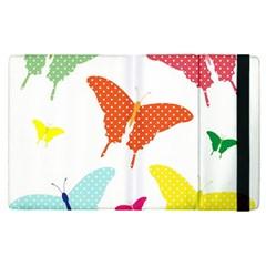 Beautiful Colorful Polka Dot Butterflies Clipart Apple Ipad Pro 9 7   Flip Case
