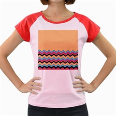 Chevrons Patterns Colorful Stripes Women s Cap Sleeve T Shirt