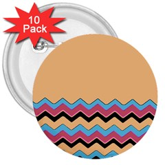 Chevrons Patterns Colorful Stripes 3  Buttons (10 pack)
