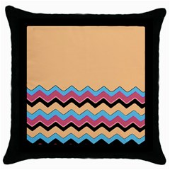 Chevrons Patterns Colorful Stripes Throw Pillow Case (Black)