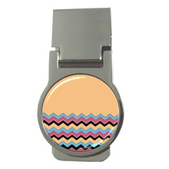 Chevrons Patterns Colorful Stripes Money Clips (round)