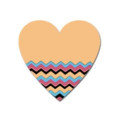 Chevrons Patterns Colorful Stripes Heart Magnet