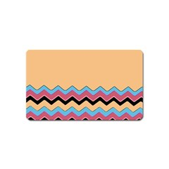 Chevrons Patterns Colorful Stripes Magnet (Name Card)