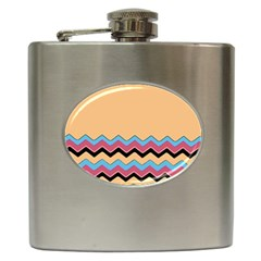 Chevrons Patterns Colorful Stripes Hip Flask (6 Oz)