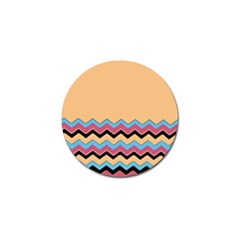 Chevrons Patterns Colorful Stripes Golf Ball Marker (4 pack)