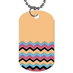 Chevrons Patterns Colorful Stripes Dog Tag (two Sides)