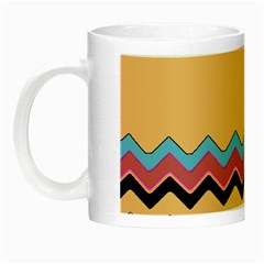 Chevrons Patterns Colorful Stripes Night Luminous Mugs