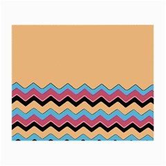 Chevrons Patterns Colorful Stripes Small Glasses Cloth