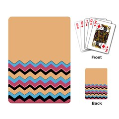 Chevrons Patterns Colorful Stripes Playing Card