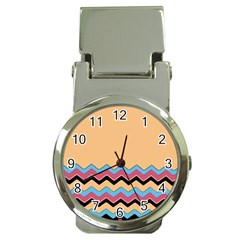 Chevrons Patterns Colorful Stripes Money Clip Watches
