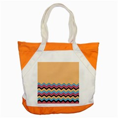 Chevrons Patterns Colorful Stripes Accent Tote Bag