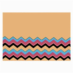 Chevrons Patterns Colorful Stripes Large Glasses Cloth (2 Side)