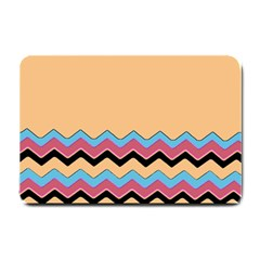 Chevrons Patterns Colorful Stripes Small Doormat