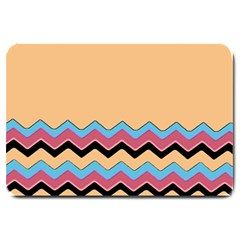 Chevrons Patterns Colorful Stripes Large Doormat
