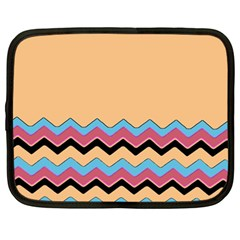 Chevrons Patterns Colorful Stripes Netbook Case (large)