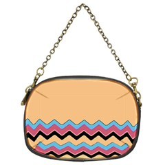Chevrons Patterns Colorful Stripes Chain Purses (two Sides)