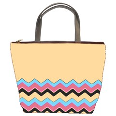 Chevrons Patterns Colorful Stripes Bucket Bags
