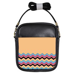 Chevrons Patterns Colorful Stripes Girls Sling Bags