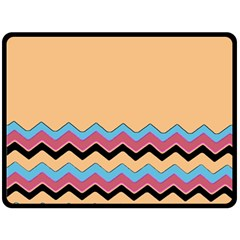 Chevrons Patterns Colorful Stripes Fleece Blanket (Large)