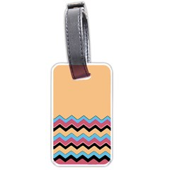 Chevrons Patterns Colorful Stripes Luggage Tags (Two Sides)