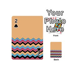 Chevrons Patterns Colorful Stripes Playing Cards 54 (Mini)