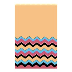 Chevrons Patterns Colorful Stripes Shower Curtain 48  X 72  (small)