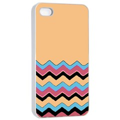 Chevrons Patterns Colorful Stripes Apple Iphone 4/4s Seamless Case (white)