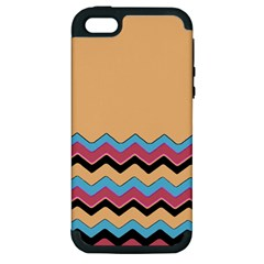 Chevrons Patterns Colorful Stripes Apple iPhone 5 Hardshell Case (PC+Silicone)