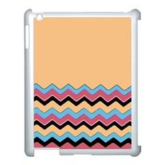 Chevrons Patterns Colorful Stripes Apple iPad 3/4 Case (White)