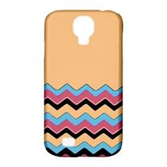 Chevrons Patterns Colorful Stripes Samsung Galaxy S4 Classic Hardshell Case (PC+Silicone)