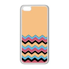 Chevrons Patterns Colorful Stripes Apple iPhone 5C Seamless Case (White)