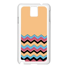 Chevrons Patterns Colorful Stripes Samsung Galaxy Note 3 N9005 Case (White)
