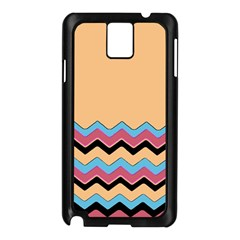 Chevrons Patterns Colorful Stripes Samsung Galaxy Note 3 N9005 Case (Black)