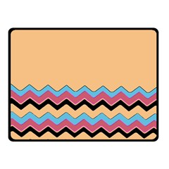 Chevrons Patterns Colorful Stripes Double Sided Fleece Blanket (small)