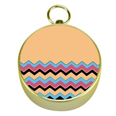 Chevrons Patterns Colorful Stripes Gold Compasses