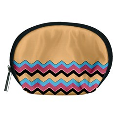 Chevrons Patterns Colorful Stripes Accessory Pouches (Medium)
