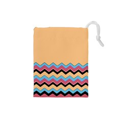 Chevrons Patterns Colorful Stripes Drawstring Pouches (small)