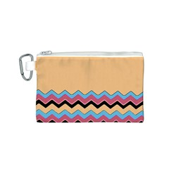 Chevrons Patterns Colorful Stripes Canvas Cosmetic Bag (S)