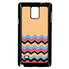Chevrons Patterns Colorful Stripes Samsung Galaxy Note 4 Case (black)