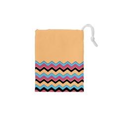 Chevrons Patterns Colorful Stripes Drawstring Pouches (xs)