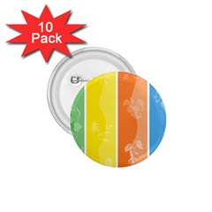 Floral Colorful Seasonal Banners 1 75  Buttons (10 Pack)
