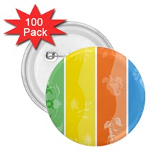 Floral Colorful Seasonal Banners 2.25  Buttons (100 pack)