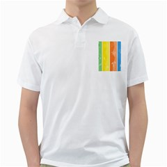 Floral Colorful Seasonal Banners Golf Shirts