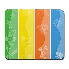 Floral Colorful Seasonal Banners Large Mousepads