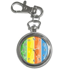 Floral Colorful Seasonal Banners Key Chain Watches