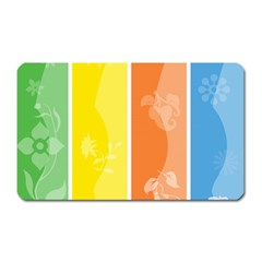 Floral Colorful Seasonal Banners Magnet (rectangular)
